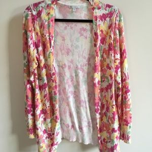 Worn once Gap floral cardigan/sweater